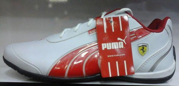 2ef022aaa473c Tênis Puma Ferrari Branco c/ Vermelho - Outlet Ser Chic