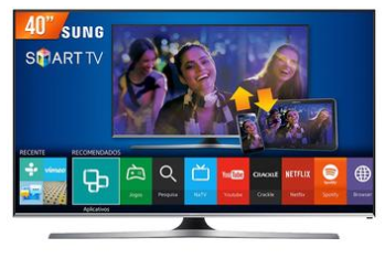 08ee6c2a0 Smart TV LED 40  Full HD Samsung LH40RBHBBBG ZD 2 HDMI USB Wifi Integrado