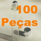 100 Roll On Frasco Labial Flaconete Vidro Liso 10ml