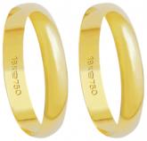 350 - alianças de ouro 18k, tradicional - Marca cpl.