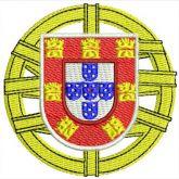 Matriz para bordar bandeira de Portugal