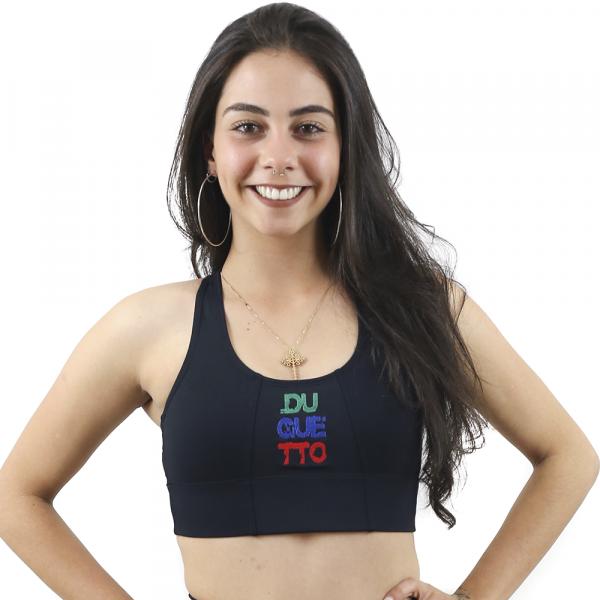 Top Nadador de Compressão Personalizado Preto - Emana
