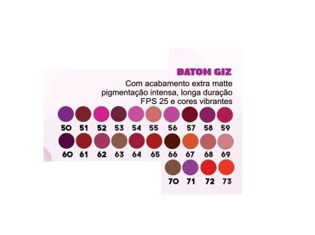 Batom Giz Mori Makeup Kit 5
