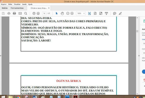 APOSTILA ARQUÉTIPOS DE ORIXÁS E SEUS FILHOS