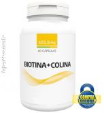 BIOTINA + COLINA 625,5MG - 60 CÁPSULAS (para saúde da pele, cabelo e  unhas bem nutridos)