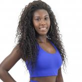 Top Nadador de Compressão Liso Azul Anil - Emana