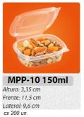 MPP-10 EMBALAGEM FREEZER MICROONDAS TAMPA ARTICULADA 150 ML 200 UN.