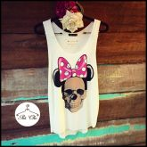 Regata Minnie Caveira { Off White }