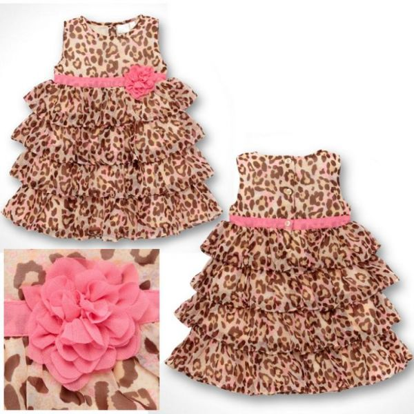 Vestido Neném Leopardo Gracinha De Nenem