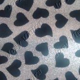 Lonita de coração prata Tam 24x40