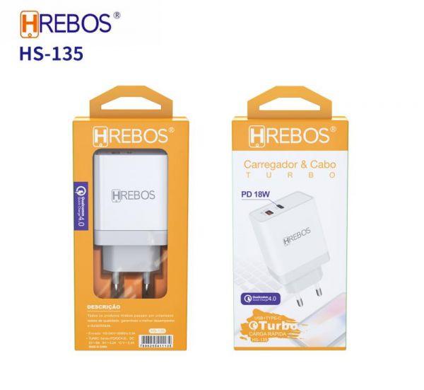 Fonte USB + USB C 4.0 18W  HREBOS