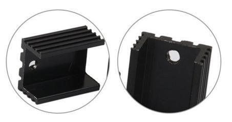 COD 1407 - Dissipador de Calor  20X15X10x2mm