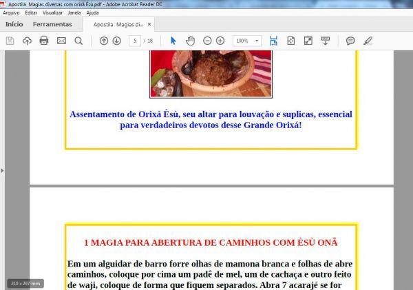 APOSTILA MAGIAS DIVERSAS COM ORIXÁ ÈXÙ