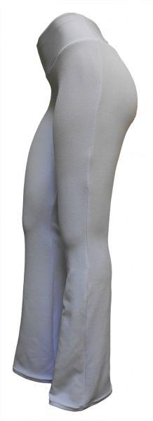 Calça feminina branca  GG(46) modelos flare ou reto, tecido malha crepe, gramatura média