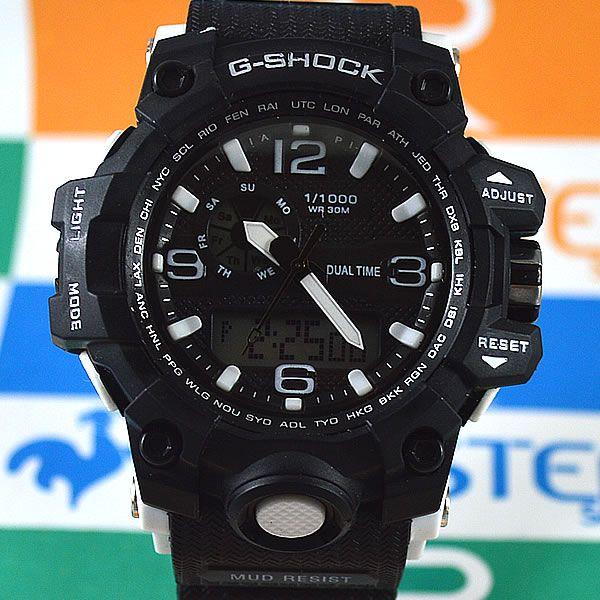 5feadb7f26e Relógio Casio G-Shock Mudmaster Preto Detalhes Branco Masculino à prova  d´água +