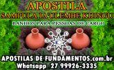 APOSTILA SAMPULA IA'ULEMBE KIJINGU - BANHOS PARA PESSOAS DE CARGO