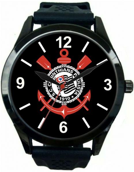 Relógio Pulso Corinthians Preto
