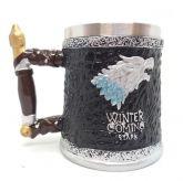 Game Of Thrones - Caneca Starks O Inverno Está Chegando - 11cm