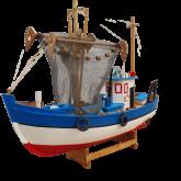 Barco Pesqueiro Decorativo 39 Cm - Em Madeira 39 x 32 cm - The Home