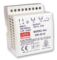DR-4512 Fonte Chaveada Industrial p/ Trilho DIN 12VDC x 3,5A Original Mean Well