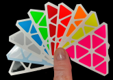 Lan Lan Octahedron 8-Axis Skewb Diamond HALF BRIGHT Colours