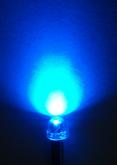LED Azul 4,8mm c/ Ângulo Aberto (120°) - 30 pçs