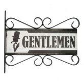 Flange Decorativa de Metal 28,5 x 32,5 cm - Gentlemen 89,00