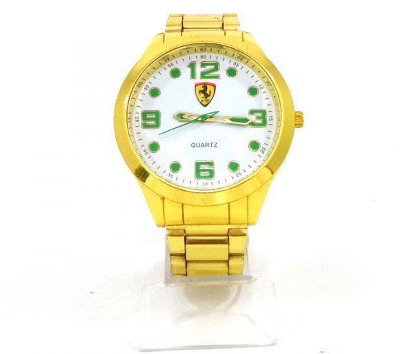 f4b333969f3 Relógio Ferrari Dourado detalhes verde cod  21286 - 1001 Servicos de ...