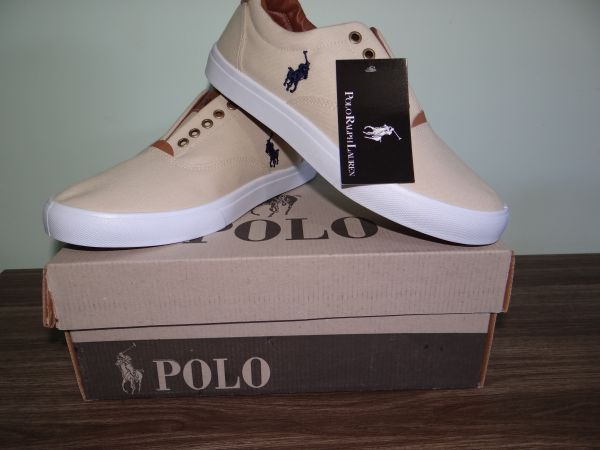 Tênis Polo Ralph Lauren Creme - Outlet Ser Chic 4b4437311db