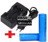 Carregador Duplo + 2 Bateria Recarregaveis 3,7v