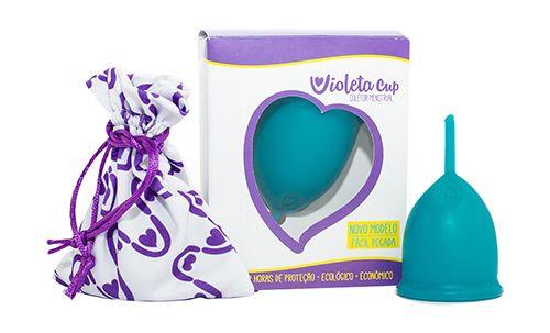 Violeta Cup - Tamanho A - Verde - Kit com Caneca