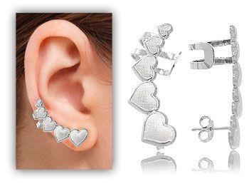 Ear Cuff 5 Corações