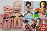 Kit Boneca Chuca - corpo bipartido, braços e rosto