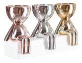 Kit 4 Vasinhos Para Suculentas Vasos Robert Plant Bob Bbb