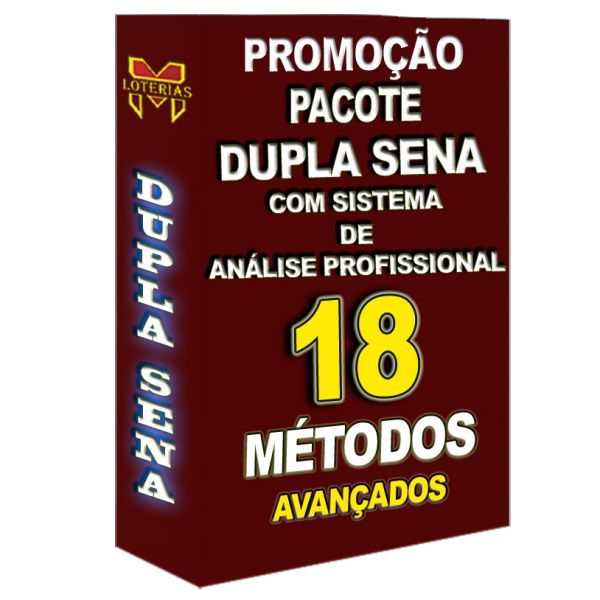 PROMOÇÃO DUPLA SENA, todos os 18 métodos que disponho por um preço especial.
