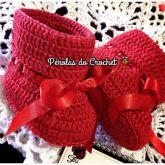 Sapatinho botinha vermelha