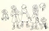 Arte original de estudo de criação de personagem