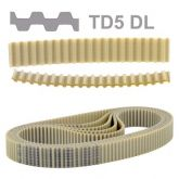 Correia T5 460  Duplo Dente  Sincronizadora Poliuretano (460 T5DL) Rexon