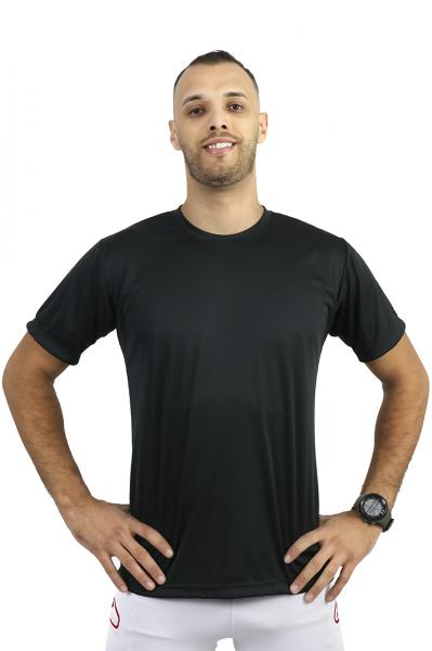 Camiseta Básica Preta 100% Poliéster