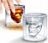 Copo Caveira Shot 150 Ml Vidro Whisky Tequila - 2 Unidades