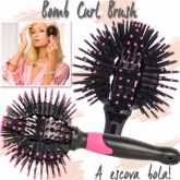 3D Bomb Curl Brush Escova Modeladora para Cachos