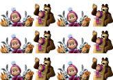 Papel Arroz Masha e o Urso Faixa Lateral A4 009 1un
