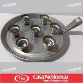 004007 - Castiçal de Alumínio para 7 velas