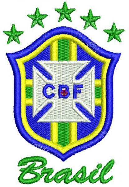 CBF Brasão Matriz para Bordar