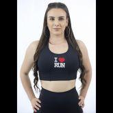 Top Nadador & Bermuda C/Bolsos Preta Personalizada