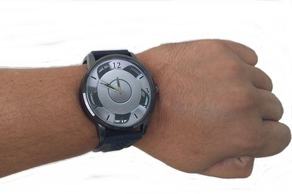Relógio Pulso com Imagem Roda Orbital