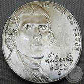 5 CENTS (NICKEL) 2012 LETRA D FC