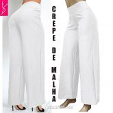 pantalona plus size branca ( 56/58-60/62 ),tecido crepe de malha, muito elegante,
