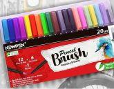 Kit Estojo 20 Caneta Pincel Brush Pen - Cores Lindas