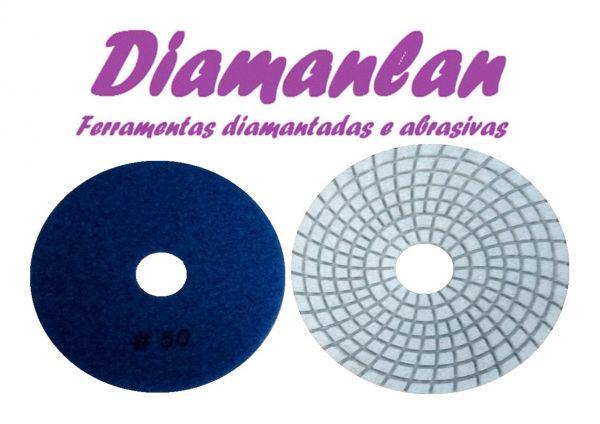 Lixa Diamantada 100mm Brilho D'água GR 50